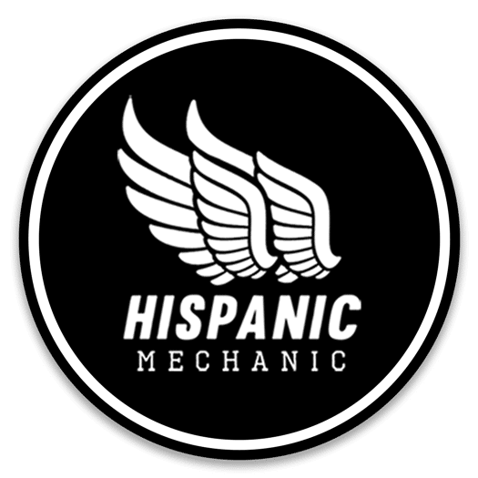 Hispanic Mechanic logo retina with shadow